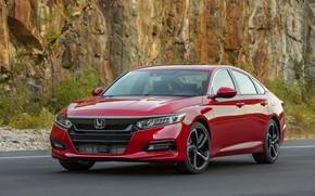 Picture red, rock, Honda, Accord, sedan, 2018, four-door, 2.0T Sport