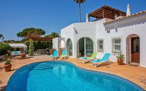 Picture Villa, pool, Portugal, architecture, terrace, Algarve, Dunas Douradas, Villa Gela Mar, Vale do Lobo