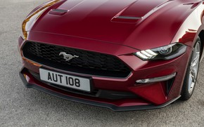 Picture Ford, convertible, 2018, the front part, dark red, Mustang Convertible