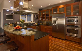 Picture design, interior, kitchen