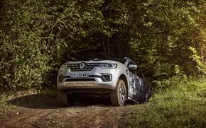 Picture earth, vegetation, Renault, pickup, 4x4, 2017, Alaskan, gray-silver
