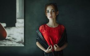 Wallpaper look, hair, Girl, glasses, Andrey Metelkov, Andrey Metel'kov