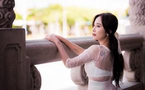 Picture look, hands, Asian, bokeh