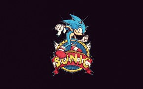 Picture Minimalism, Style, Sonic, Background, Art, Style, Background, Sonic, Helix, Minimalism, Sonic The Hedgehog, by Bogdan …
