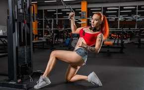 Picture legs, Redhead, fitness, A Diakov George