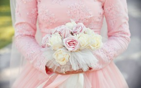 Picture roses, bouquet, the bride, wedding, bouquet, wedding