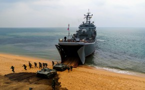 Picture ship, large, landing, landing, Azov