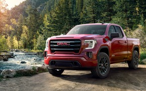 Picture pickup, GMC, Sierra, Doule Cab, 2019, Elevation