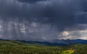 Picture summer, mountains, rain, valley