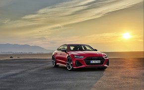 Picture sunset, Audi, Sportback, RS 7, RS7, 2020