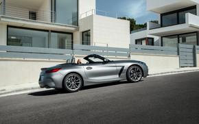 Picture asphalt, grey, street, building, BMW, Roadster, BMW Z4, M40i, Z4, 2019, G29