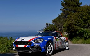 Picture the sky, turn, rally, 2018, Abarth, 124 Rally