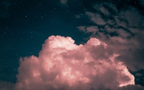 Picture the sky, clouds, pink