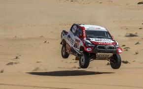 Picture jump, Toyota, pickup, Hilux, 2020, Rally Dakar, 2021, Gazoo Racing