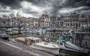 Picture Holland, boat, Gorinchem