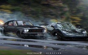 Picture Mustang, Ford, Auto, Race, Machine, Race, NFS, Ford Mustang, Black, Rivals, Need for Speed Rivals, …