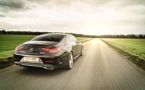 Picture Mercedes-Benz, CLS, sedan, rear view, AMG, 2018, 400d