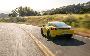 Picture speed, Porsche, Cayman, rear view, GTS, 718, 2019