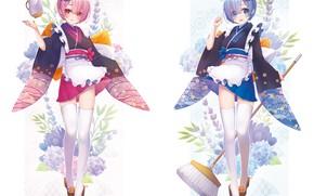 Picture girls, From scratch, REM, RAM, Re Zero Kara Hajime Chip Isek Or Seikatsu