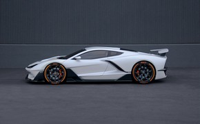 Picture supercar, side view, Aria, hypercar, 2019, FXE