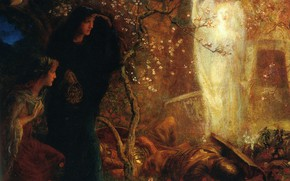 Picture Arthur Hughes, The first Easter, He is risen