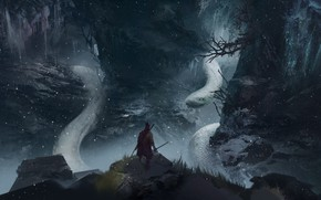 Picture forest, snake, warrior, snakes, Sekiro: Shadows Die Twice