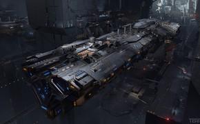 Picture transport, ship, hangar, Doc, compartment