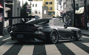 Picture Auto, Black, Machine, Street, Mazda, RX-7, Rendering, Mazda rx7, Mazda RX-7, Transport & Vehicles, by …