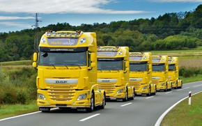 Picture road, yellow, lorries