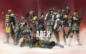 Picture background, characters, Apex Legends