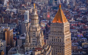 Picture building, home, New York, panorama, architecture, Manhattan, Manhattan, New York City, Manhattan Municipal Building, Thurgood …