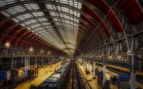 Picture london, train, Paddington Station