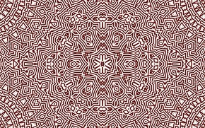 Picture white, pattern, round, brown, snowflake, kaleidoscope