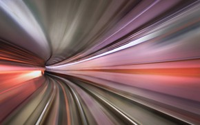 Picture line, speed, the tunnel