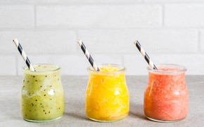 Picture Apple, Cocktail, Orange, jars, Banana, Breakfast, Tropical, smoothies