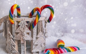 Picture winter, color, snow, holiday, rainbow, Christmas, candy, Bank, New year, light background, the colors of …