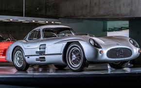 Picture Silver, Sportcar, Mersedes Benz, 300SLR