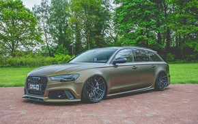 Picture AUDI, RS6, 2017, AUDI RS6 AVANT, BEFORE, MATTE BROWN