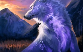 Picture nature, wolf, fantasy, by Kipine