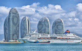 Picture The city, Liner, China, The ship, Passenger liner, Sanya, Barge, Bunkering, by Pixabay, SuperStar Aquarius, …