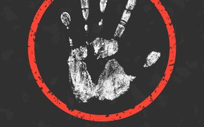 Picture white, warning, message, poster, hand, fingers, abuse