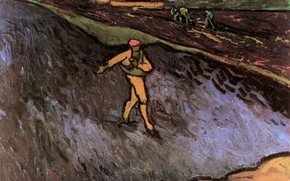 Picture Vincent van Gogh, in the Background, Outskirts of Arles, The Sower