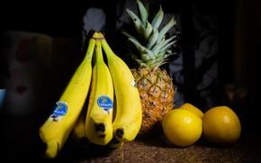 Picture lemon, fruit, banana, lemons, ananas, nananas