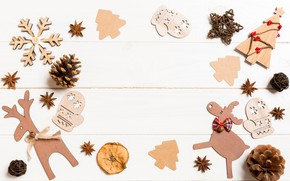 Picture toys, New year, decoration, composition