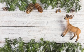 Picture decoration, New Year, Christmas, Christmas, wood, New Year, decoration, Merry, fir tree, fir-tree branches