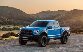 Picture sunset, Ford, Raptor, pickup, F-150, Hennessey, 2019, VelociRaptor V8