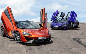 Picture McLaren, pair, supercars, Spider, 570S, 720S
