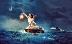 Picture the crash, Sea, Seagull, salvation.