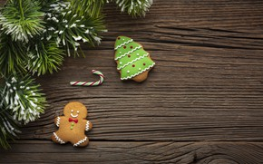 Picture cookies, Christmas, sweets, New year, tree, Happy New Year, Christmas, New Year, Happy Christmas