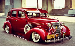 Picture Chevrolet, Red, Retro, Old car, Master Deluxe, 1938 Year